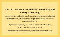 CPD Certificate, Lifestyle CC