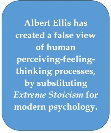 Albert Ellis's false view of human disturbance