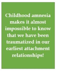 Childhood amnesia about traumatic abuse