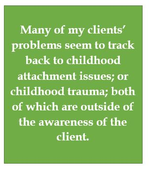 We are unaware of our childhood traumas